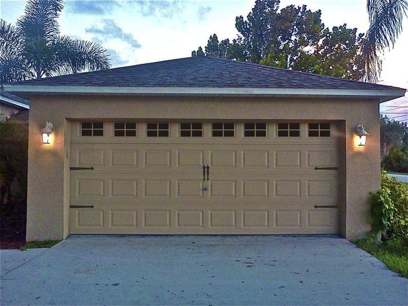 Garage Door Windows Decals Garage Faux Window Decals Etsy Garage Door Windows Garage Doors Garage Door Styles