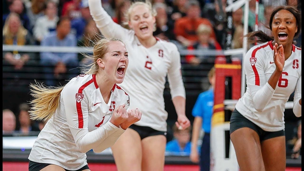 Highlights Stanford Women S Volleyball Punches National Championship Ga Women Volleyball Stanford Volleyball Volleyball National Championship