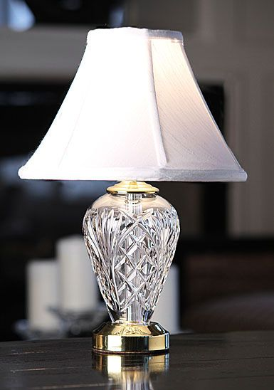Waterford Kilkenny Lamp And Shade 16in, Waterford Crystal Lamp Patterns