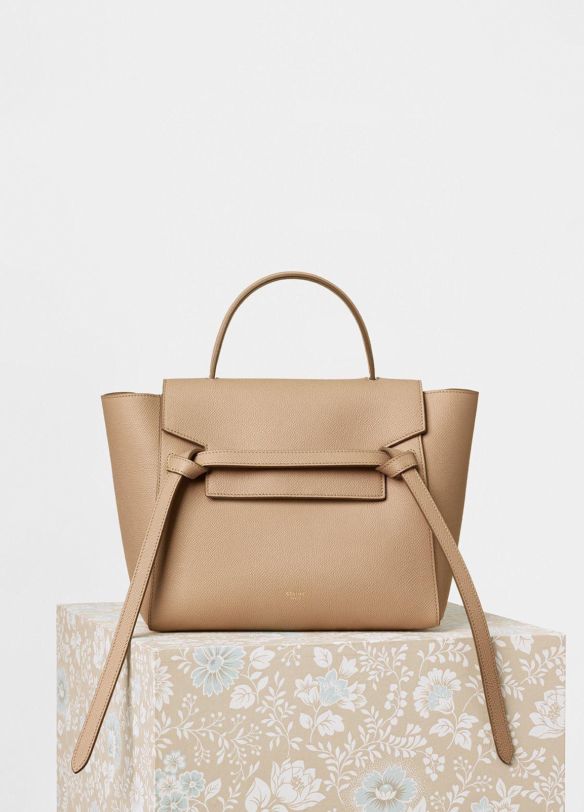 e4e0bf96f39a Micro Belt Handbag in Grained Calfskin - Céline
