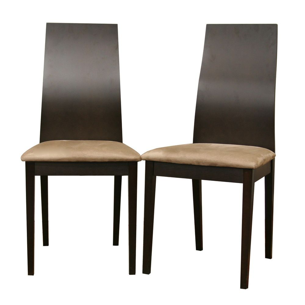 Baxton Studio Calhoun Dark Brown Modern Dining Chair (Set