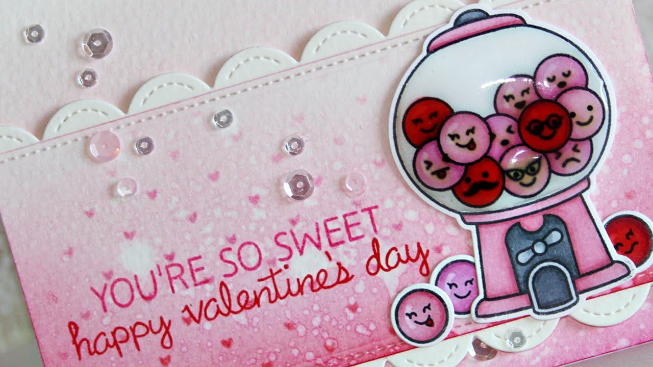 how to make a valentine's day card  youtube  lawn fawn