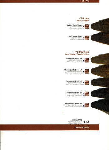Wella Color Touch Demi-Permanent Hair Color . Color Swatch Charts ...