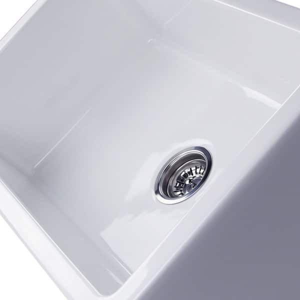 White Italian Fireclay 30-inch Farmhouse Kitchen Sink | farmhouse ...