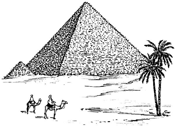 Egyptian Pyramids Coloring Page Pyramids Egypt Pyramids
