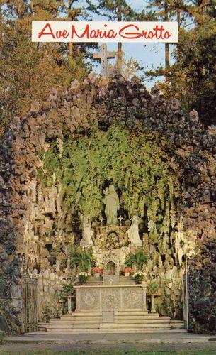 Ave Maria Grotto The Main Grotto Cullman Alabama Unused Postcard Sweet Home Alabama Home Alabama Alabama