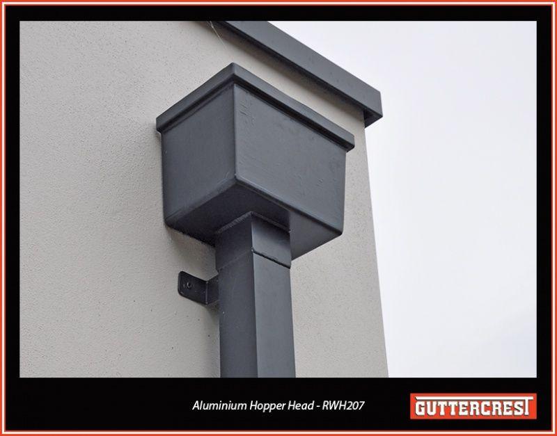 Aluminium Hopper Heads And Downpipes Aluminium Guttering Systems Aluminium Downpipes Aluminium Guttering Gutters How To Install Gutters Metal Roof