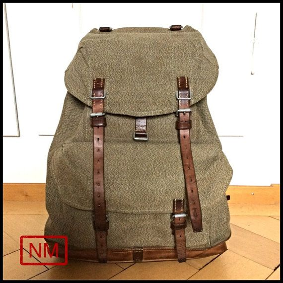 Vintage Swiss Army Backpack or Rucksack Pepper by NaturaMachinata, $102.00
