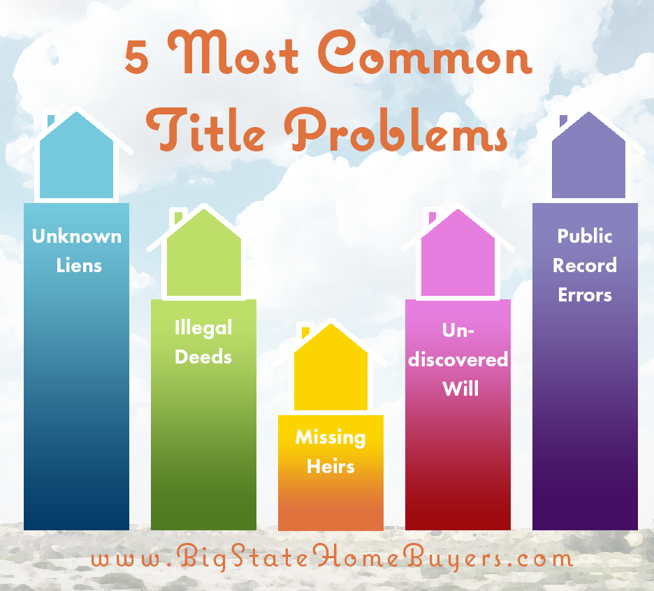 Big State Home Buyers Frequently Helps Families Who Are Dealing With Title Problems While It Is Possible For Individuals To Resolv Sell My House Problem Title