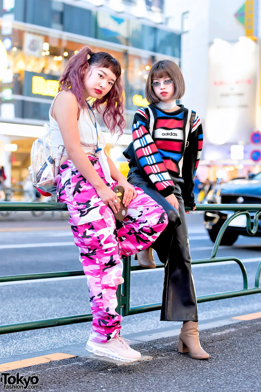 659865dc1eb3 Harajuku Girls in Rothco Pink Camo Pants, Faith Tokyo, Ambush, Gucci & A  Bathing Ape