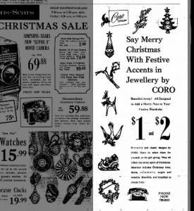 Coro Jewelery - 1965