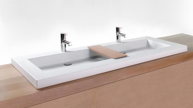 Vcs60t 60 25 Bathroom Double Trough Sink Cube Collection Wetstyle Modern Bathroom Sink Home Depot Bathroom Double Trough Sink