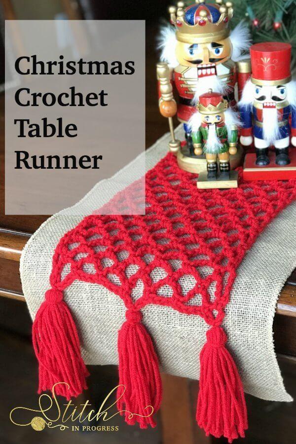 Christmas Crochet Table Runner Moogly Community Board Pinterest