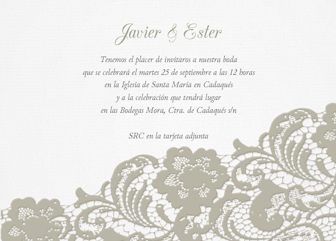 finest invitacin boda romantic lace with plantillas invitacion de boda