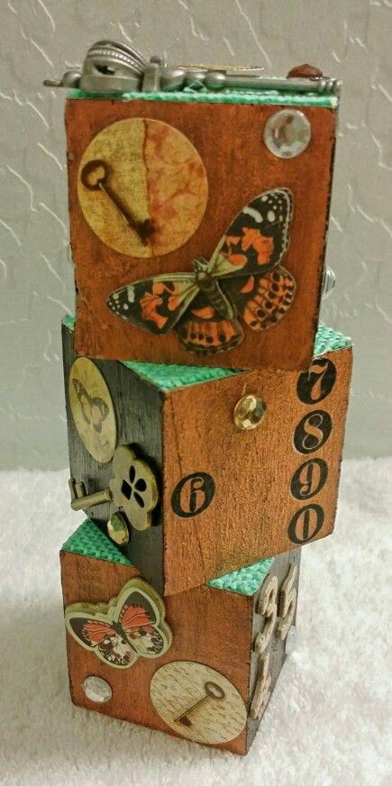 Altered wooden blocks SIDE 1