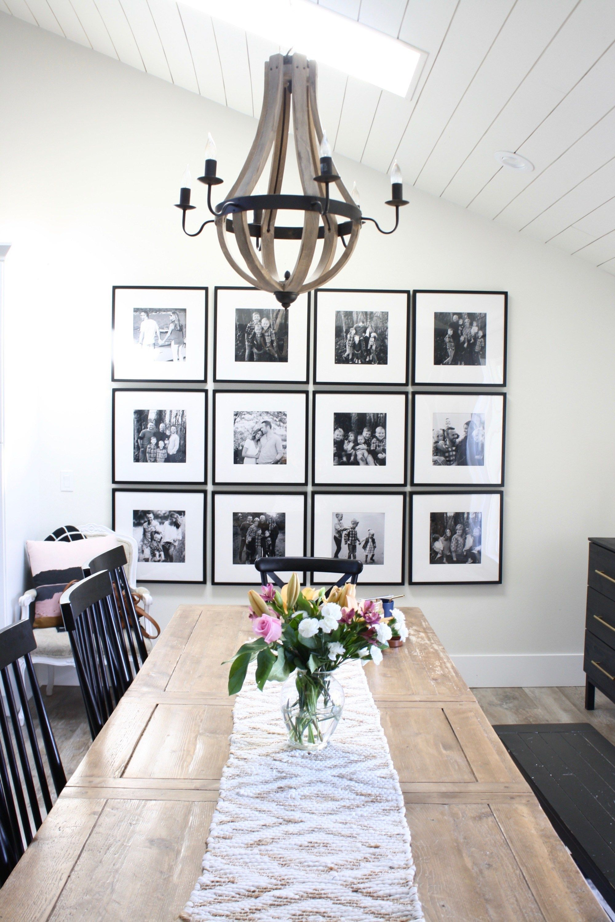 Ikea Gallery Wall In A Modern Farmhouse Dining Room Dining Room
