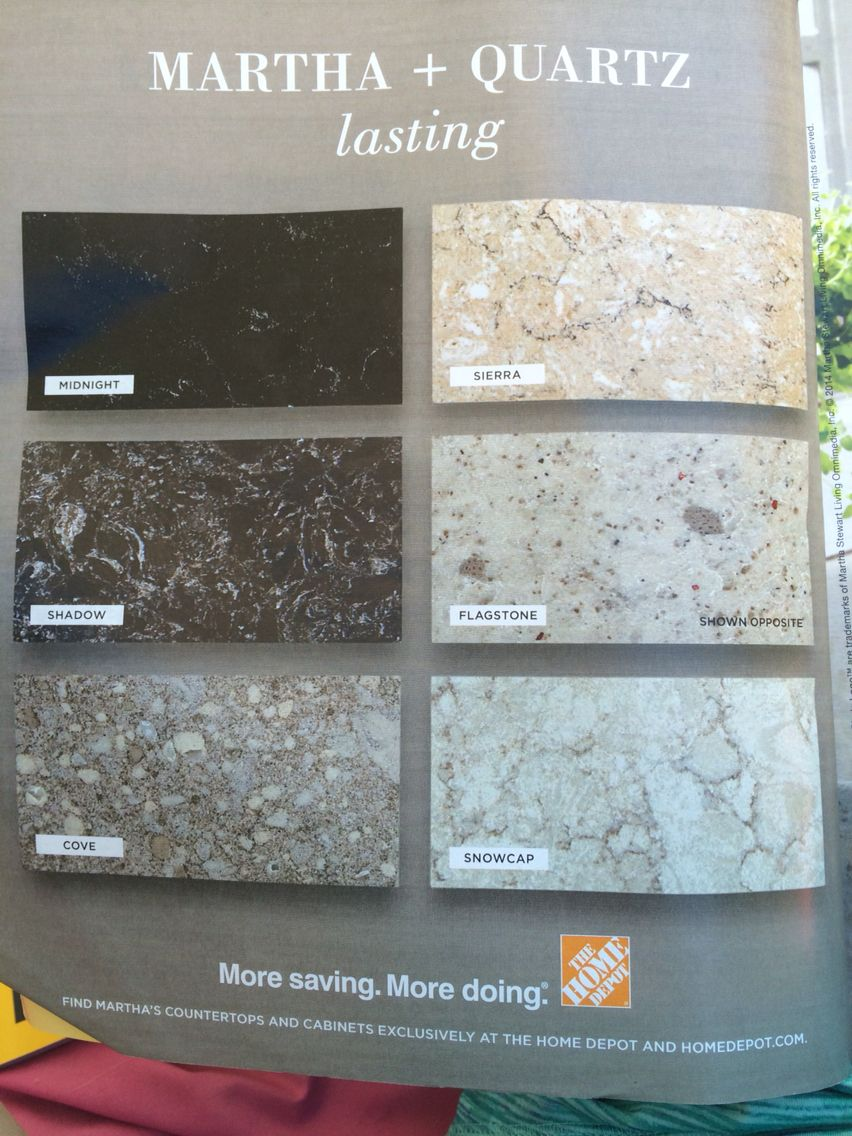 Martha Stewart Quartz Countertops From Home Depot In 2019