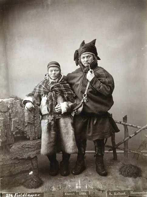 Kalland. Eneret, A. Lapp couple, Norway.c.1899.