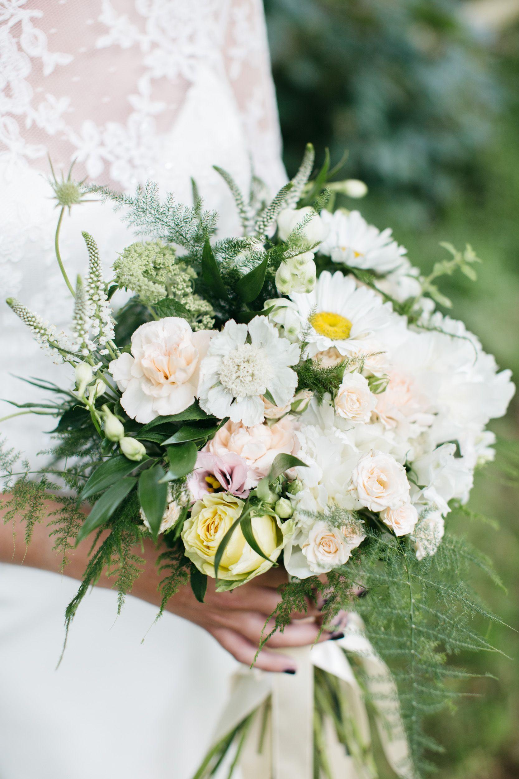 Wedding Flowers Wedding Bridal Blush Pink White Green Daisy Flower