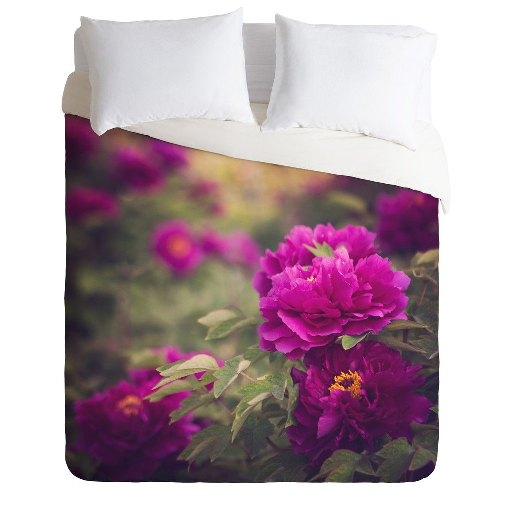 Catherine McDonald Peony Garden At Dayan Pagoda Duvet Cover | DENY Designs Home Accessories