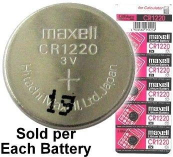 Maxell CR1220 3.0 Volt Lithium Coin Battery, on Tear Strip as low as $0.30 Wholesale at www.BatteriesAndButter.com