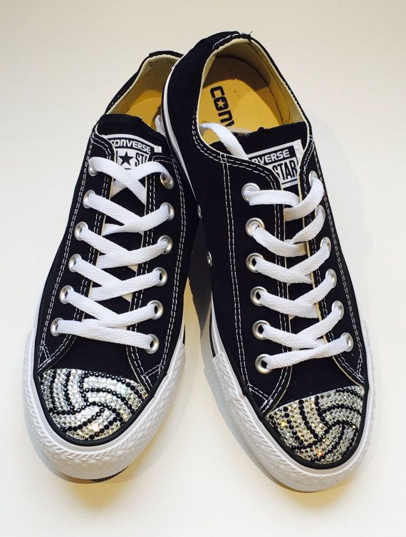 Volleyball Bling Converse Shoes. Women