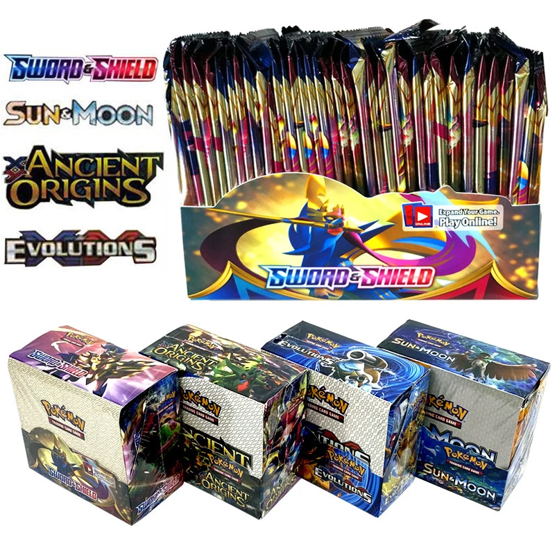 324Pcs Collectible Pokemon Cards Trading Card Game Sword /& Shield Booster Box