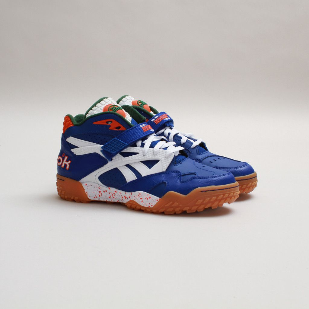 #Reebok Pump Paydirt Mid (Royal/Green-Orange) #Sneakers