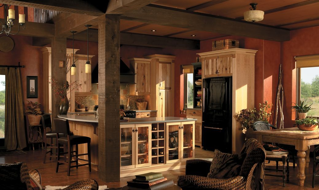Hickory Cabinets But Rather Dark Overall Yukon Home New