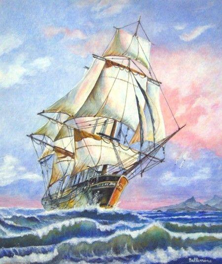 L 39 lienne r ve encore artiste peintre de la r union bateaux pinterest - Dessins de voiliers ...