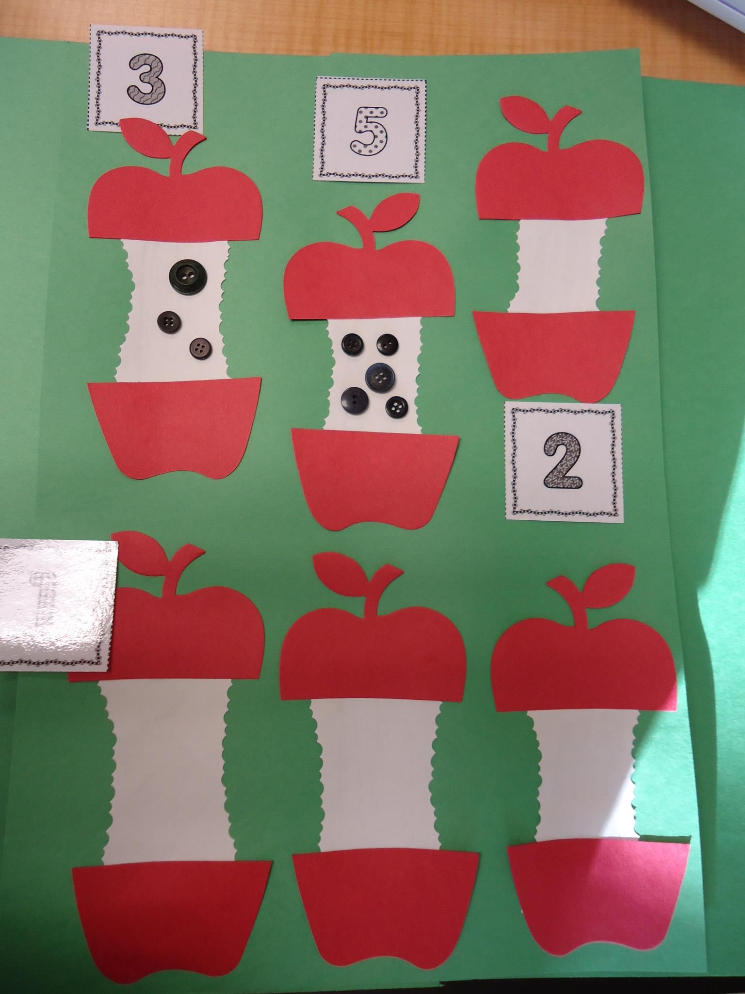 My Version Of The Apple Seed Counting Activity I Cut An Apple Shape With Our Ellison Machine