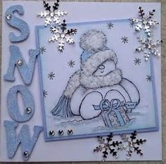 Cards Made Using Stampendous snowball fight - Bing Images