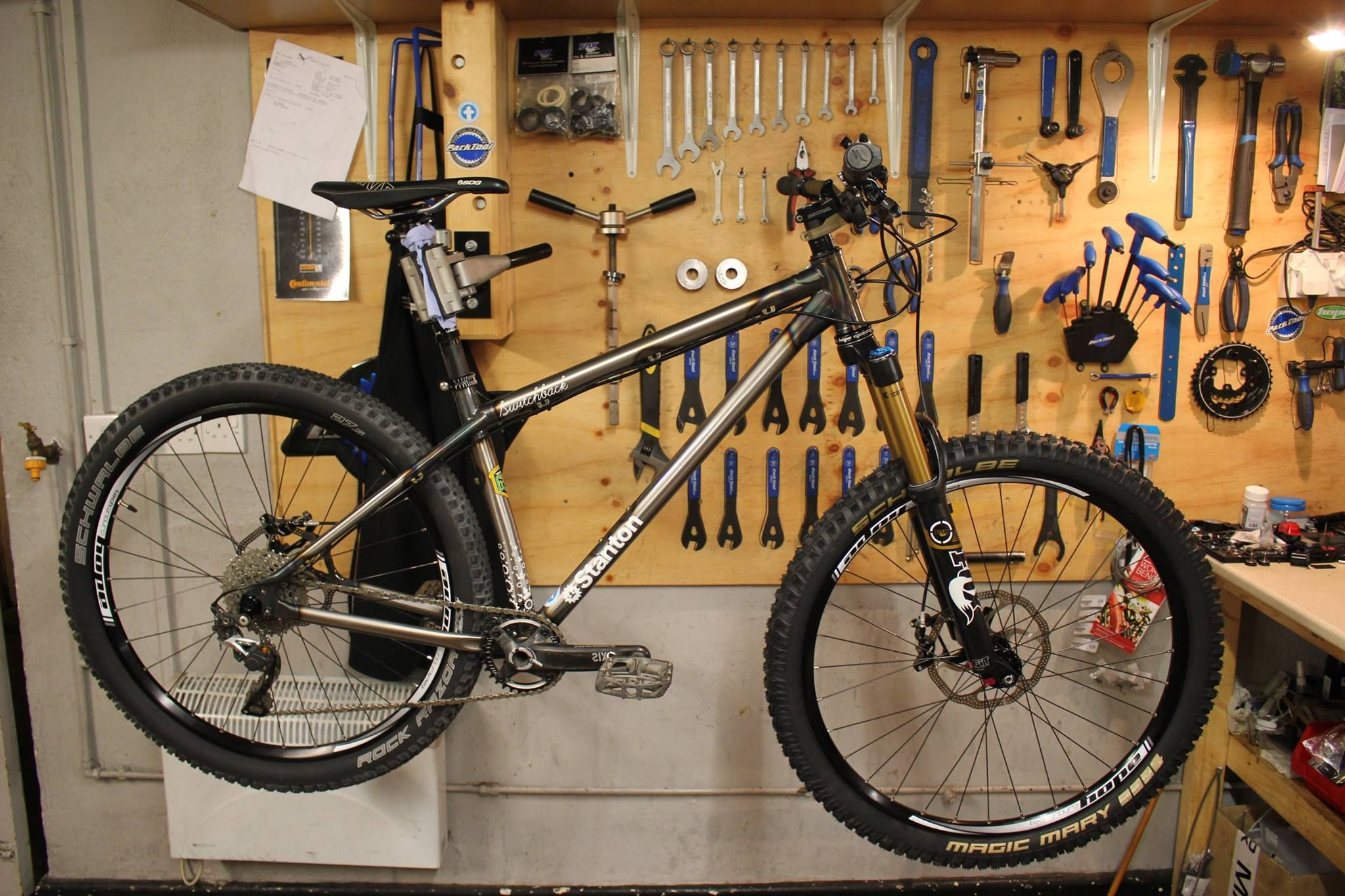 Stanton Switchback 2015 Raw Clearcoat Mountain Biking Hardtail Mountain Bike Stanton Switchback