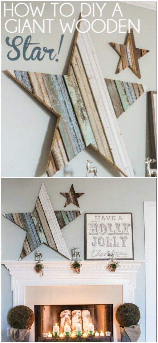 25 Reclaimed Wood Christmas Decorations to Add Rustic Charm To Your Home #craftstosell