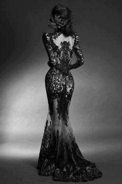 fashion black lace wedding dress goth weddings Morticia Addams bridal goth wedding black weding dress