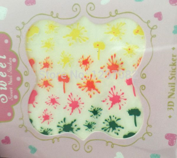paint splatters nail stickers