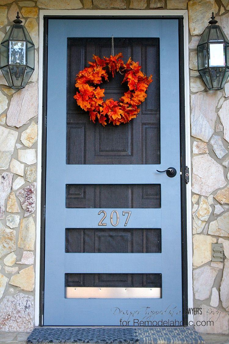 Diy screen door tutorial blue doors furniture and dutch door diy screen door tutorial vtopaller Choice Image