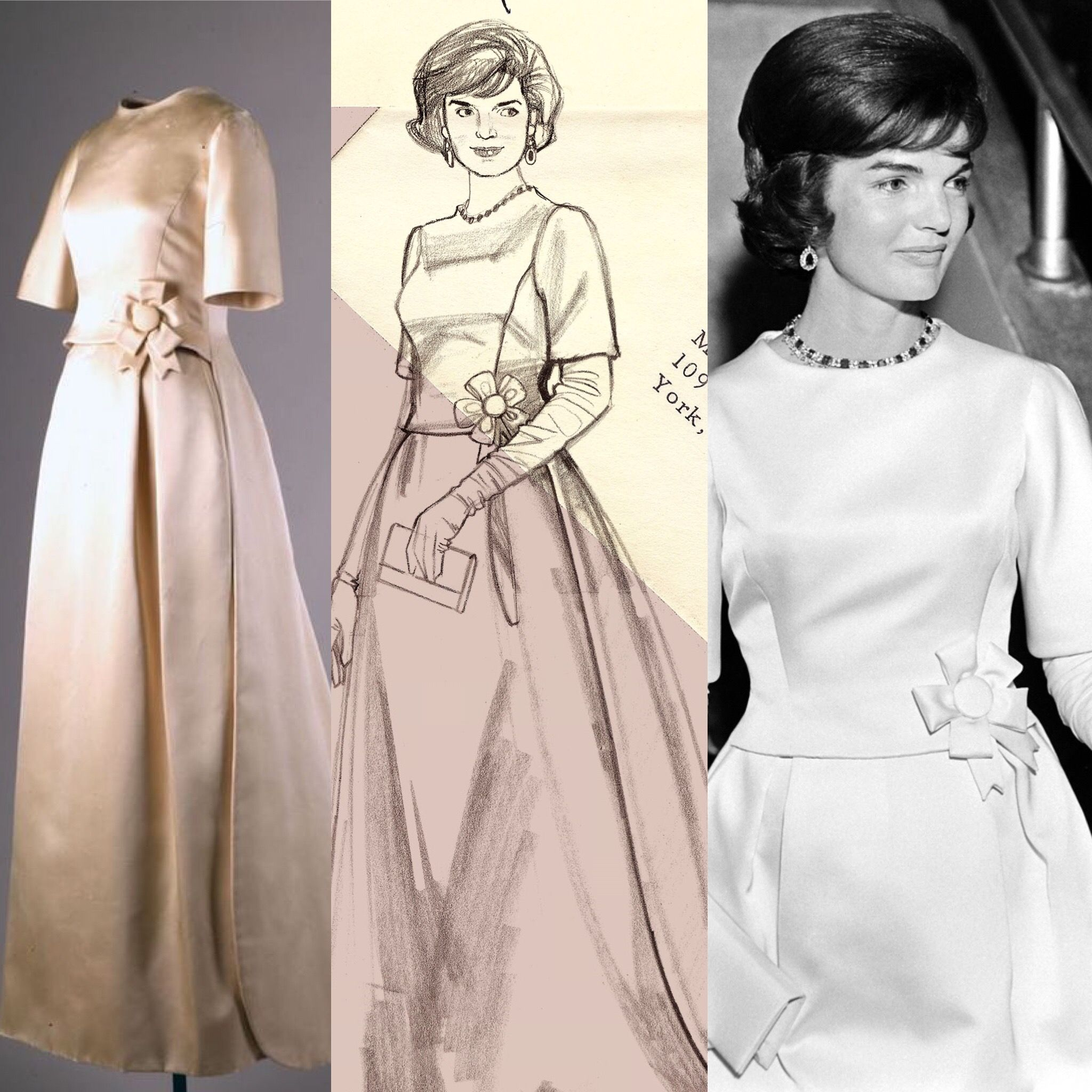 Jackie Kennedy's inauguration gown, 1961 | The Jackie Look