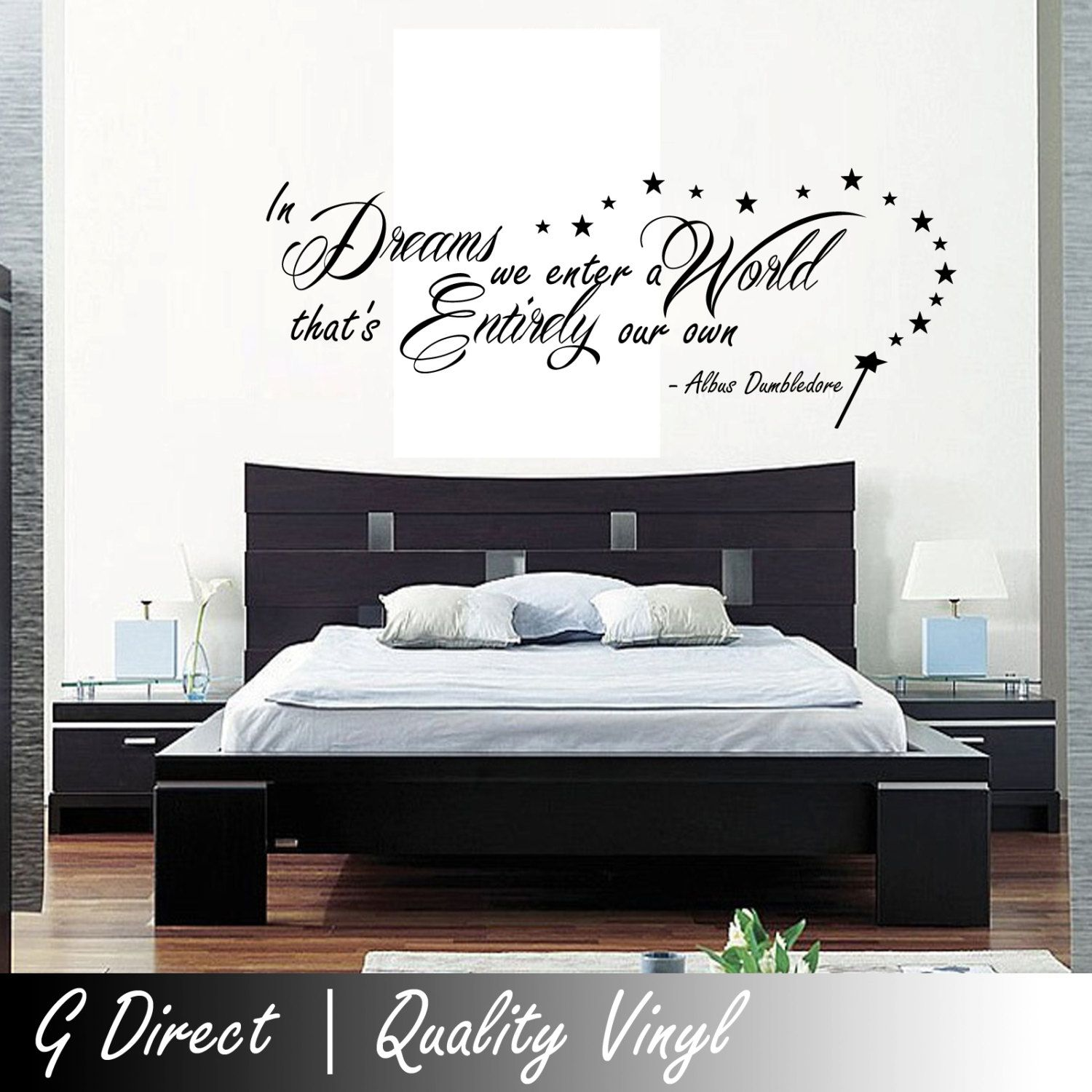 Harry Potter In Dreams We Enter Dumbledore Wall Sticker Vinyl