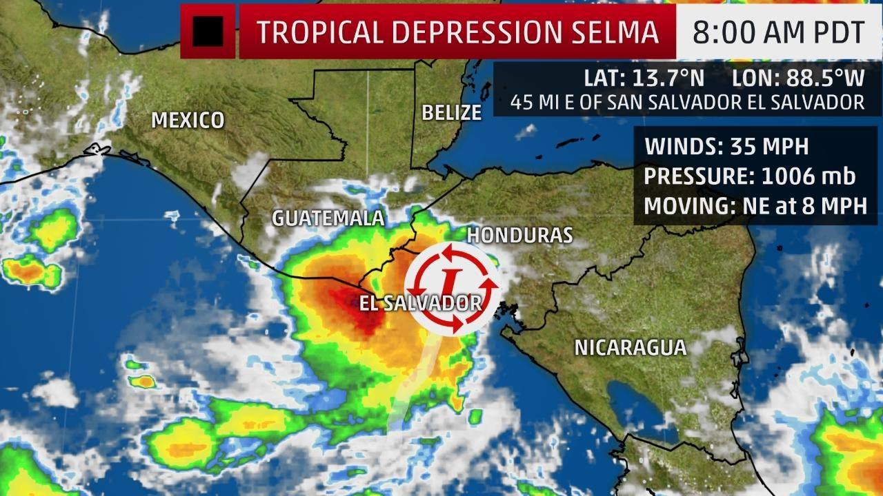 Selma Is First Northeastern Pacific Named Storm On Record To Make Landfall In El Salvador The Weather Channel Tropical Storm Storm Tropical