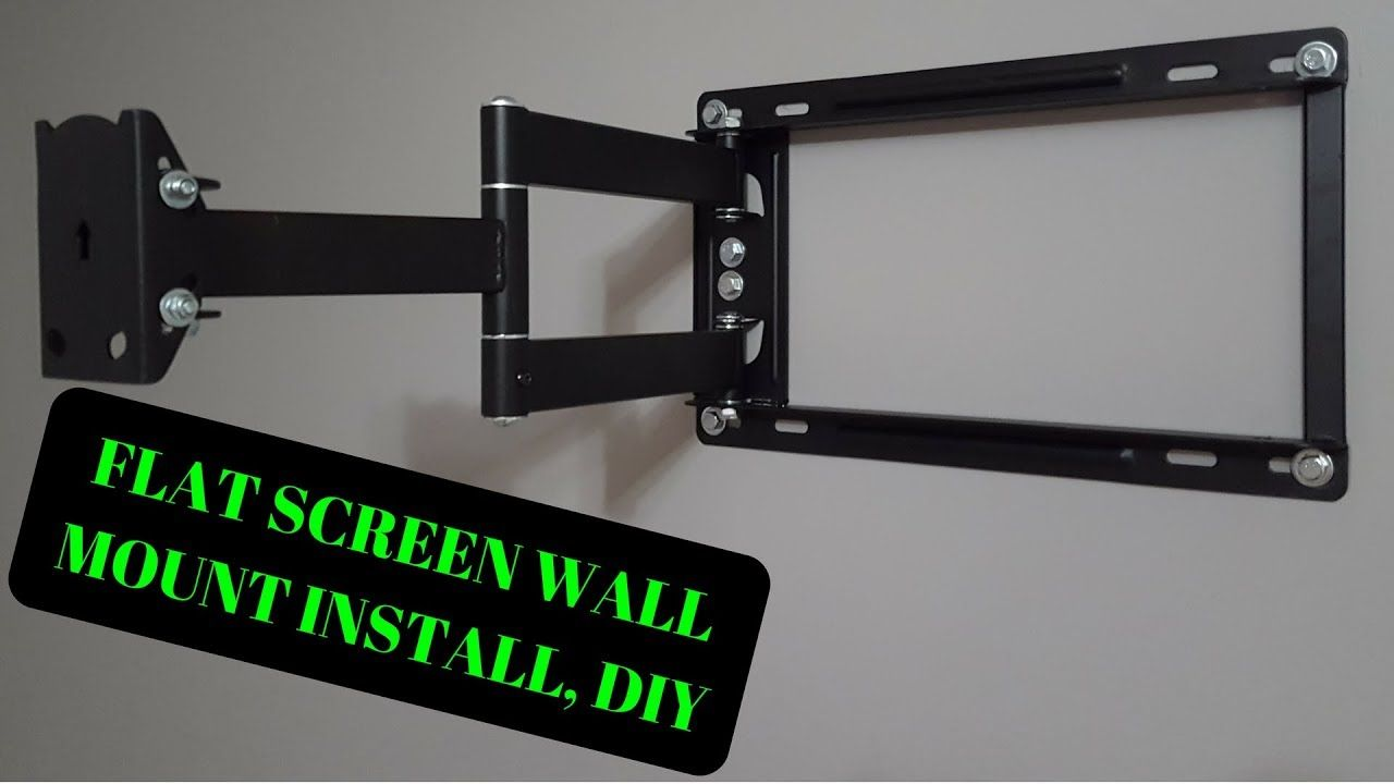 Diy Flat Screen Tv Wall Mount Kitchen Ideas In 2020 Tv Wall Wall Mounted Tv Diy Tv Wall Mount