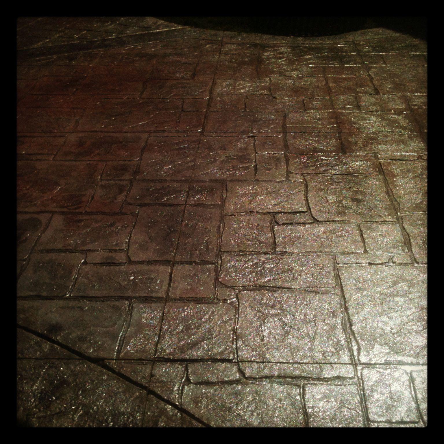 Stamped Concrete Patio -- English Yorkstone