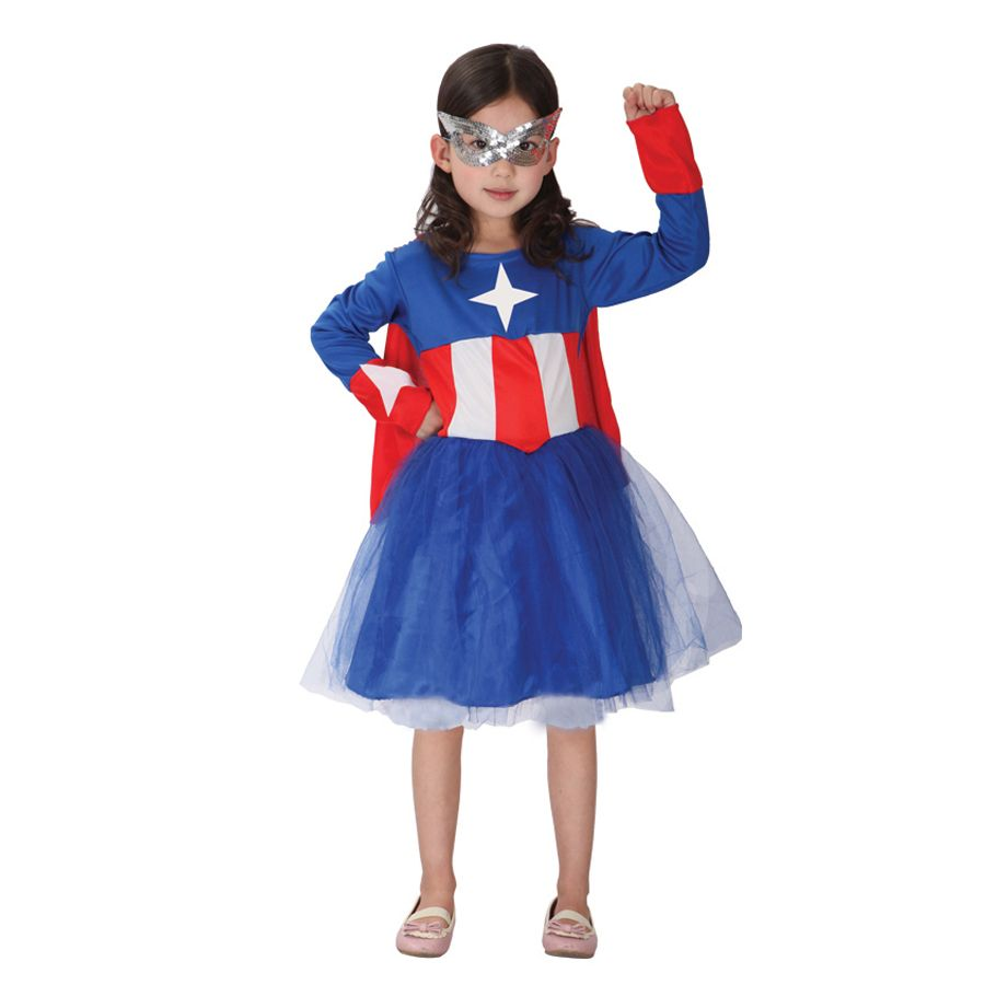 Click to buy ucuc moonight cosplay captain america costume kids girls