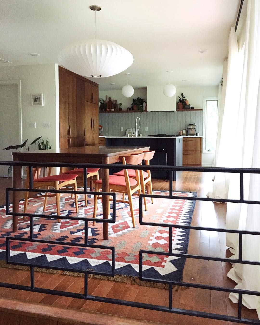 Mid Century Modern Residence: Mid-century Modern Kitchen And Dining Room #openconcept