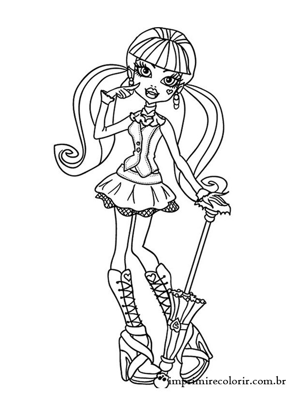 Monster High Draculaura | Coloring pages | Pinterest | Dibujos ...
