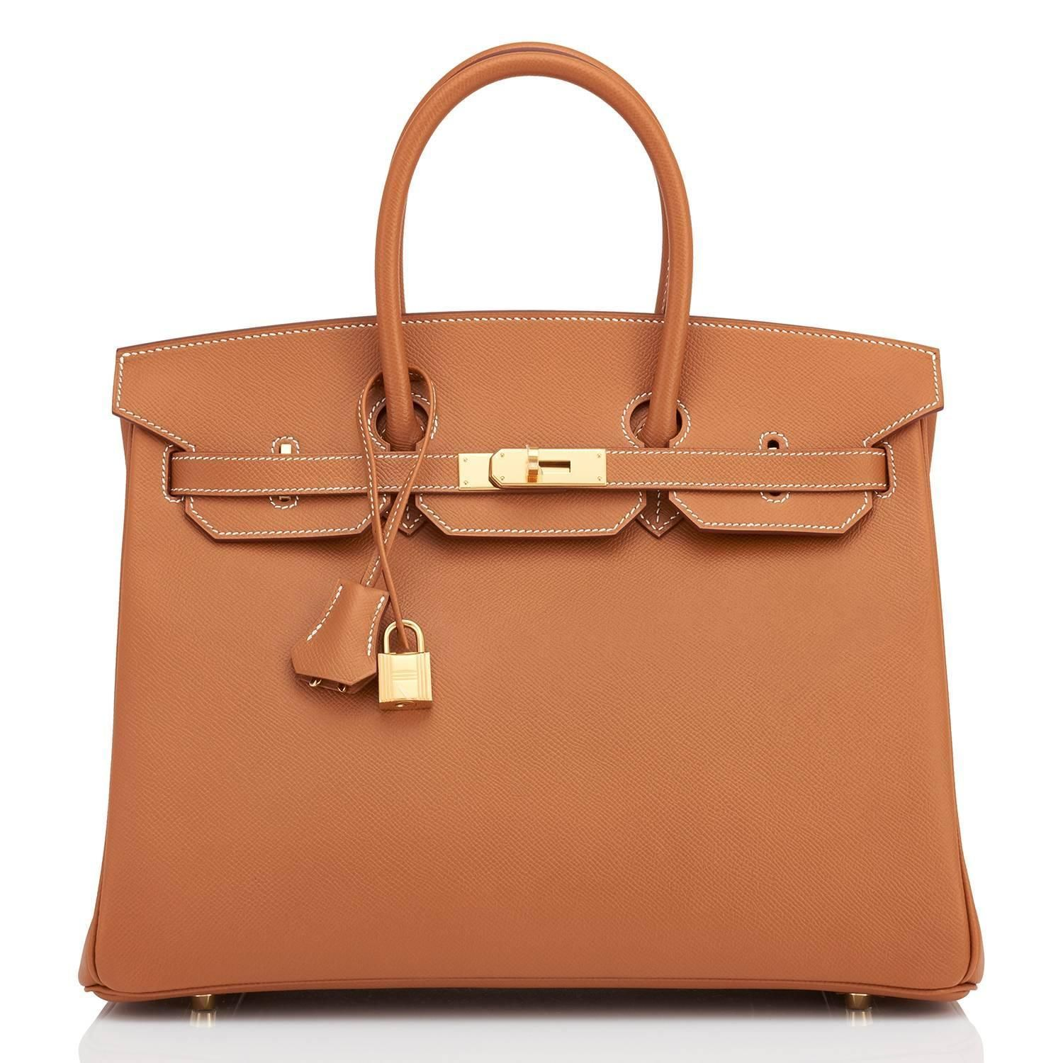 175702926663 Hermes Gold Camel Tan Birkin Epsom 35cm Gold Hardware Rare Leather ...