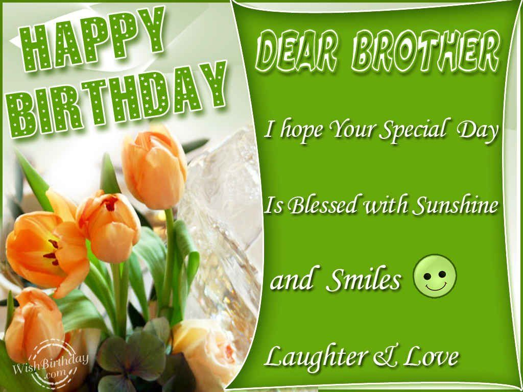 nice Happy Birthday Quotes and Wishes Photos For Someone Special – Happy Birthday Cards for My Brother