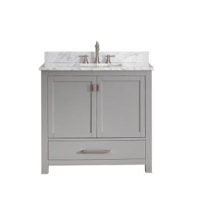 Avanity Modero Grey Vanity Combo Overstock Shopping Great