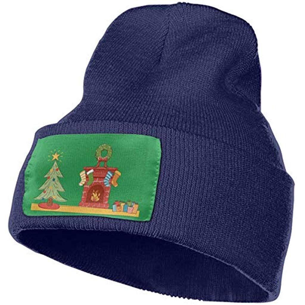 YinFive Merry Christmas Icon Warm Adult Knitted Hat Ski Cap Beanie Hat CardigansSweatshirts
