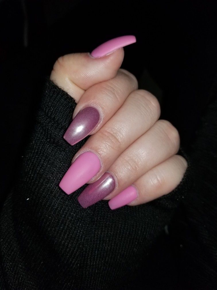 Pink chrome and matte nails 11.11.17 | Nails | Pinterest | Matte nails